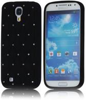 Rhinestone Silicone Hoesje Samsung Galaxy S4 zwart