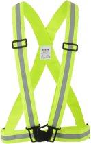 Wowow Cross Belt - Reflecterende Kruisgordel Fietsen Hardlopen Geel - Heren