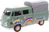 Toi-toys Miniatuur Volkswagen Pick-up Peace Groen