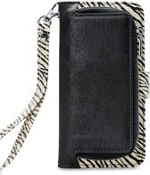 Mobilize - iPhone 8 Hoesje - Uitneembare Gelly Wallet Case Zebra Zwart