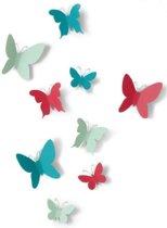 Umbra wanddecoratie vlinders Mariposa - Kleur - Assorti