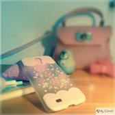 Samsung Galaxy S4 - hoes cover case - PC - Pink Flower