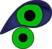XtremeEyez - UV Eggy Web Green - 1 dag lenzen
