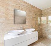 Spiegel met LED verlichting horizontaal 60x60 cm