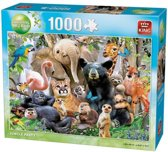 King Puzzel Jungle Party 1000 stukjes