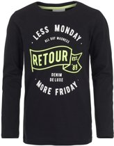 Retour Jeans Jongens T-shirt - Black - Maat 146/152