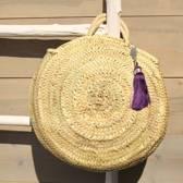 Myroundie - Roundie Bag - Ronde Ibiza Boho Tas 42 - Hand gevlochten Palmblad Tas – Maat M