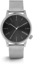 Komono Winston Royale Silver/Black horloge KOM-W2357
