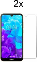 Huawei Y5 (2019) Screenprotector Glas - Tempered Glass Screen Protector - 2x - LuxeRoyal