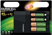 3x Duracell batterijlader Hi-Speed Value Charger, inclusief 2 AA en 2 AAA batterijen, op blister