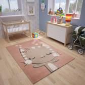 Vloerkleed Kinderkamer Julia 80x150 - Roze