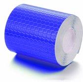 Reflecterende Sticker Tape - Blauwe reflectie plakband op rol van 200x5cm - Deze zelfklevende reflectietape is duurzaam, zelfklevend, weerbestendig, waterdicht en een sterke kleefkracht