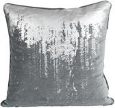 Nielsen kussenhoes Reginald 50x50 charcoal zilver 401054