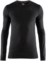 Craft Fuseknit Comfort Rn Ls Sportshirt Heren - Black