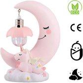Baby Nachtlampje - Eenhoorn kinderlamp voor nachtkastje - Babykamer Verlichting - batterijen inbegrepen - Roze
