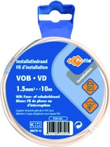 PROFILE installatiedraad VOB (België) VD (Nederland) - 1,5mm² - wit - 10 meter