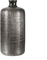 Casa Vivante vaas rond ivan maat in cm: 40 x 18.5 zilver