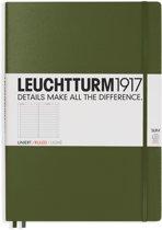 Leuchtturm1917 Notitieboek XL - Master Slim Gelinieerd - Army