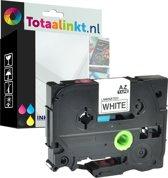 Brother P-Touch 1850 (TZe221) 9mm Black op wit Gelamineerd zelfklevend tape | huismerk