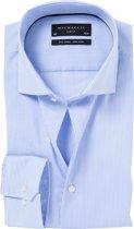 Blauw wit gestreept katoenen Michaelis overhemd