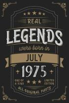 Real Legends were born in July 1975