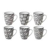 Cosy & Trendy Nikko design bekers (6 stuks)