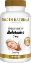 Golden Naturals Melatonine 5 mg (180 smelttabletten)