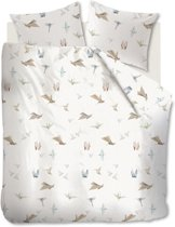 Beddinghouse Origami Birds - Dekbedovertrek - Eenpersoons - 140x200/220 cm - Naturel