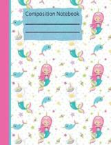 Mermaid Unicorn Composition Notebook - 4x4 Graph Paper
