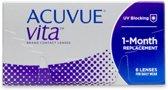 S +1.25 - Acuvue VITA - 6 pack - Maandlenzen - Contactlenzen - BC 8.4