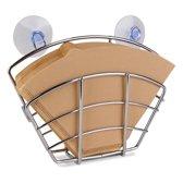 Vannons - Koffiefilterhouder - Koffiefilter Houder met Zuignap - 100 Filters - Wandmontage - RVS - Zilverkleurig