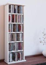 VCM CD/DVD-meubel Vostan zonder deur, wit voor  150CDs/65DVDs