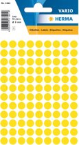 Herma 1841 Etiket Rond 8mm Geel - Pakje met 5 velletjes stickers