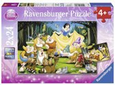 Ravensburger Disney Princess Sneeuwwitje dwergen Twee puzzels van 24 stukjes