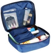 Navy Blue Travel Toiletbag - Reis Toilet Bag Make Up Organizer - Cosmetica Etui Tasje