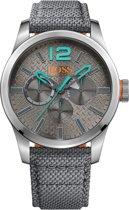 Hugo Boss Orange HO1513379 Horloge - Nylon - Grijs - 47 mm