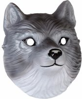 Wolven masker 3D plastic 22cm - dieren gezichtsmasker