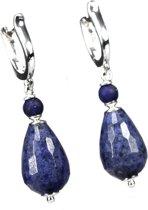 Oorbellen Blue Jeans – Sterling Zilver, blauwe Jade en Lapis Lazuli
