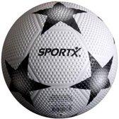 Sportx Bal Rubber Star Wit Zwart