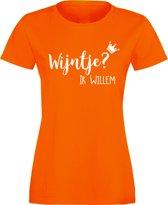 Oranje shirt Koningsdag | Wijntje? Ik Willem |