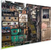 De Favela's in Rio de Janeiro Plexiglas 30x20 cm - klein - Foto print op Glas (Plexiglas wanddecoratie)