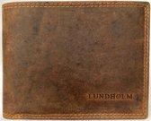 Lundholm leren portemonnee heren leer compact model Bruin cognac - cadeau voor man verjaardag  - mannen cadeautjes - kerstcadeau voor vriend