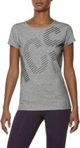 T-shirt Asics Graphic SS Tee 126295-0714, Vrouwen, Grijs, T-shirt maat: XS EU