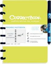 Whiteboard notitieblok / schrift - Correctbook - A5 - Gelijnd - Groen