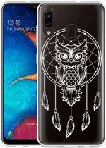 Galaxy A20 Hoesje Dream Owl Mandala White