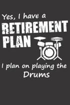 Notebook for drummer guitarrist bassist rocknroll rock roll retirement plan: Dot Dotted Grid Funny Notebook Diary Journal rock n roll vintage retro cl