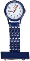 Verpleegster horloge Classic- metaal- DONKER BLAUW