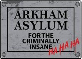 BATMAN - Tin Sign 21 X 15 - Arkham Asylum