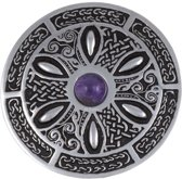 Celtic Wheel Broche met Amethyst steen
