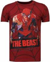 The Beast Spider - Rhinestone T-shirt - Maten: